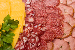 Meat assortment and cheese Stock Photo