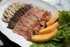 Meat assortment on a plate Royalty Free Stock Image