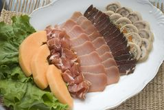 Meat assortment on a plate Royalty Free Stock Images