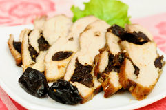 Meat baked with prunes Stock Image