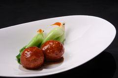Meat ball. Asia style meat ball, fine Chinese cuisine Stock Image