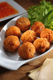 Meat Ball. Golden Brown Fried Chicken Meat Balls Royalty Free Stock Photos