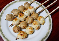 Meat ball grill Royalty Free Stock Photography
