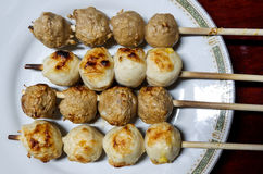 Meat ball grill Stock Photos