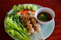 Meat ball. This photo are nmeat ball taken at Mom's resterant Thailand Royalty Free Stock Image