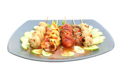 Meat ball in plate Stock Images
