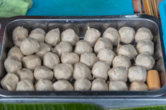 Meat ball for sale at street food market Stock Image