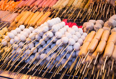 Meat ball and sausage Royalty Free Stock Images