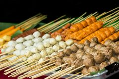 Meat ball and sausage. Meat ball and sausage,Thai style Stock Images