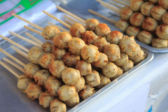 Meat ball. Thai Style grilled Beef Ball with sweet and sour sauce Royalty Free Stock Photos