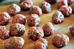 Meat Balls. The making of of some tasty meat balls Stock Images