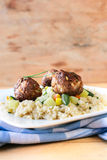 Meat balls and couscous Stock Photos