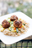 Meat balls and couscous Stock Photography
