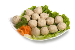 Meat balls, delicious dishes. Appetizers, bean products, bean curd Stock Image