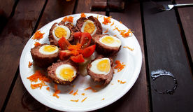 Meat balls with eggs Royalty Free Stock Photography