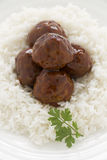 Meat Balls In Hoisin Sauce Stock Image
