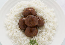 Meat Balls In Hoisin Sauce Stock Images