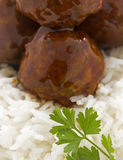 Meat Balls In Hoisin Sauce Royalty Free Stock Image