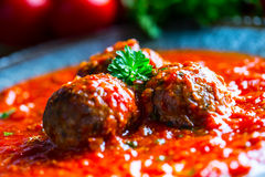 Meat balls. Italian and Mediterranean cuisine. Meat balls with s Stock Image