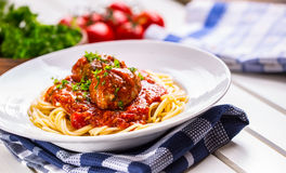 Meat balls. Italian and Mediterranean cuisine. Meat balls with s Royalty Free Stock Photos