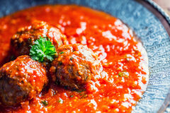 Meat balls. Italian and Mediterranean cuisine. Meat balls with s Royalty Free Stock Image