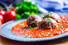 Meat balls. Italian and Mediterranean cuisine. Meat balls Royalty Free Stock Photo