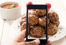 Meat balls Stock Image