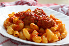 Meat balls and pasta Stock Photography