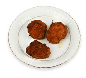 Meat balls on plate Royalty Free Stock Photos