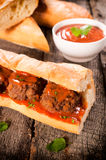 Meat balls sandwich Stock Photography