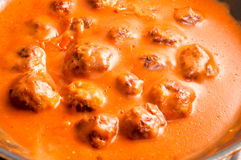 Meat balls and sauce Royalty Free Stock Photo