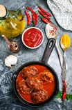 Meat balls with sauce. Meat balls with tomato sauce, stock photo royalty free stock images