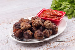 Meat balls with sauce Royalty Free Stock Photo