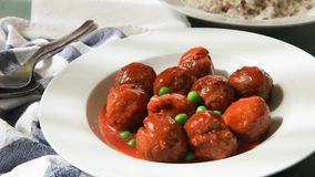 Meat balls stock video footage