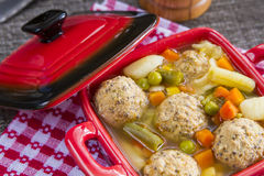 Meat balls soup Royalty Free Stock Image