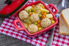 Meat balls soup Royalty Free Stock Images