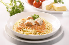 Meat balls Spaghetti Royalty Free Stock Images