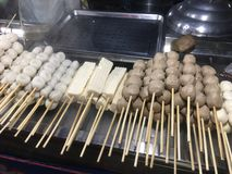 Meat balls street food Thailand royalty free stock photos