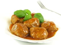 Meat balls,studio isolated Stock Images