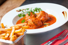 Meat balls in toamto sauce Royalty Free Stock Image