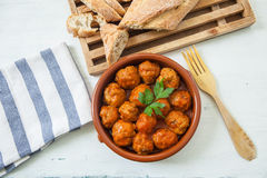 Meat balls with tomato Stock Images
