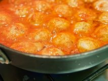 meat balls with tomatoe sauce royalty free stock images