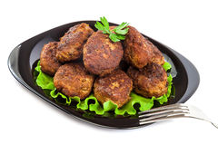 Meat balls on white background. Royalty Free Stock Photos