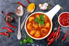 Free Meat Balls With Sauce Stock Images - 109394624