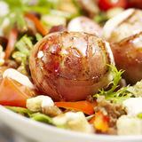 Meat balls wrapped in bacon royalty free stock photo