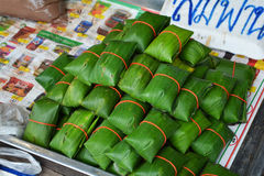 Meat in banana leaf Stock Images