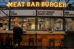 Meat Bar Burger in the new Sarona food market, Tel Aviv Stock Image