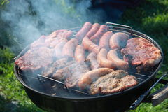 Meat on a barbeCue Royalty Free Stock Photo