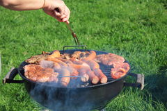 Meat on a barbecue Stock Image