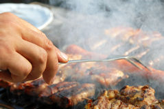 Meat on barbecue Royalty Free Stock Photo